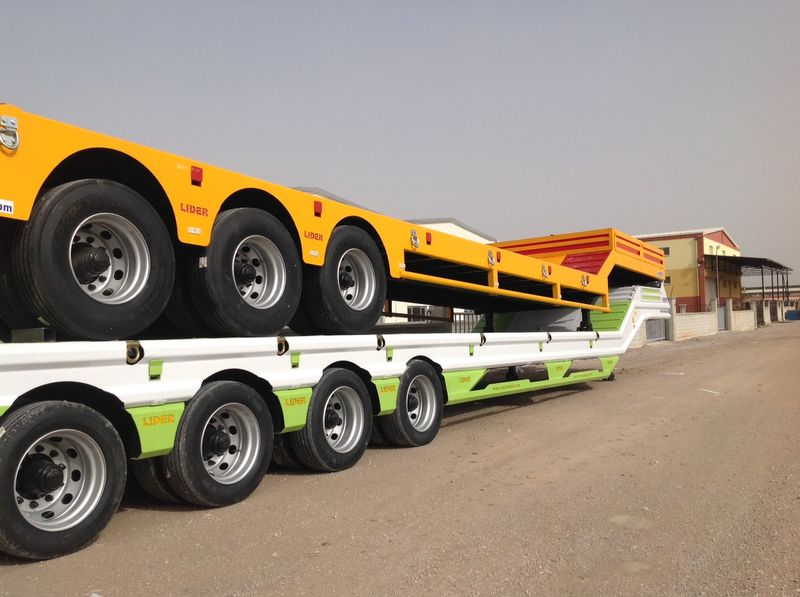 new LIDER لوبد مواصفات اوربية 2017 جديد من شركة ليدر ترايلر لتصنيع المقطور low bed semi-trailer