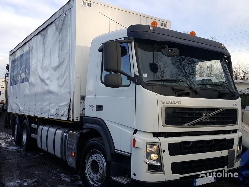 VOLVO FM 380 6X2 + hiab 144 BS 2 HI DUO truck curtainsider